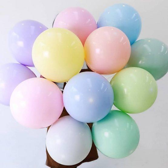 Гелиевые шары из латекса однотонные, пастель